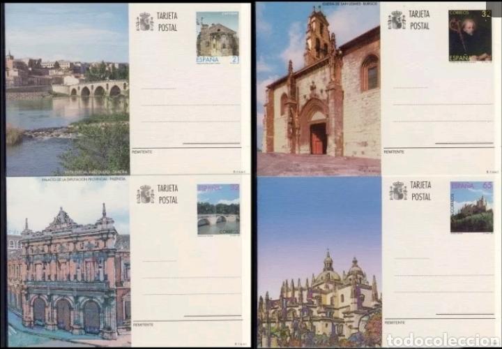 4 TARJETAS POSTALES ESPAÑA 1997 SELLOS (Sellos - España - Entero Postales)