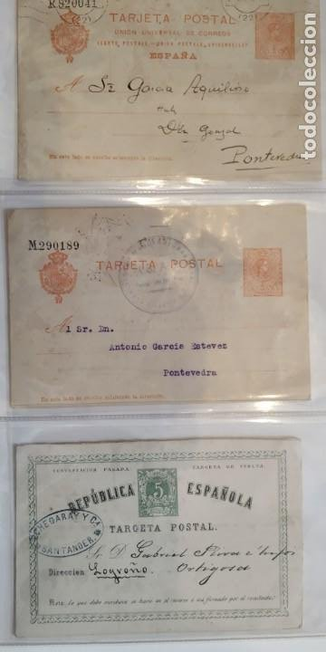 REPUBLICA ESPAÑOLA. 3 TARJETAS POSTALES. (Sellos - España - Entero Postales)