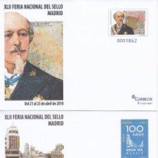 Francobolli: 2010 - 2 SOBRES ENTEROS POSTALES NUM. 129/30 - XLII FERIA SELLO MADRID 2010 - MADRID. Lote 203614730