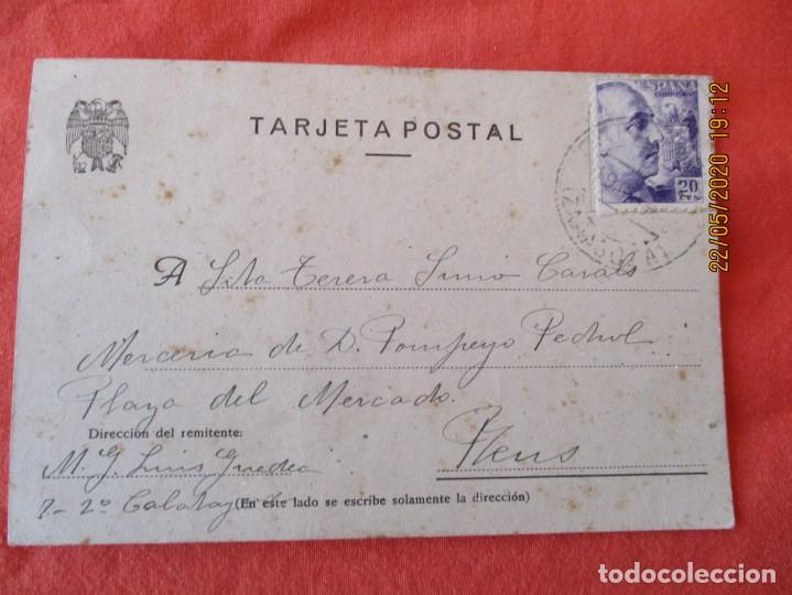 ENTERO POSTAL DE CALATAYUD A REUS. AÑO 1943 (Sellos - España - Entero Postales)