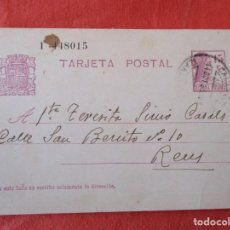 Sellos: ENTERO POSTAL DE LA REPUBLICA ESPAÑOLA. 14/10/1935. DE CALATAYUD A (REUS). Lote 205567747