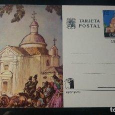 Sellos: TARJETA ENTERO POSTAL. ERMITA DE SAN ANTONIO DE LA FLORIDA (MADRID). 17 DE MARZO 1975.. Lote 205849955