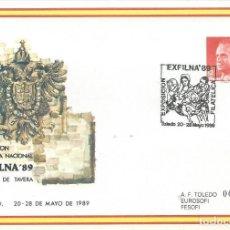 Sellos: 1989. SOBRE ENTERO POSTAL CONMEMORATIVO. EXFILNA'89 - TOLEDO. EDIFIL 13. MATASELLOS DE LA EXPOSICIÓN. Lote 206313818