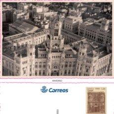 Sellos: 2 TARJETAS PREF4ANQUEDAS CENTENARIO PALACIO DE COMUNICACIONES. Lote 206774343