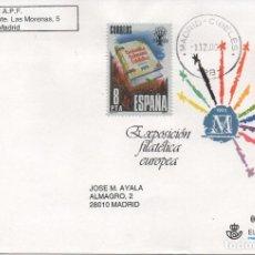 Sellos: SOBRE ENTERO POSTAL EMITIDO EN 1992. EXPOSICIÓN FILATÉLICA EUROPEA DE MADRID. Lote 207146686