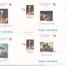 Sellos: 4 SOBRES ENTERO POSTALES NUM 35- PINTURA ESPAÑOLA -GOYA- FERIA NAC. DEL SELLO -MADRID -1996. Lote 283159898