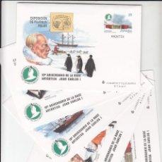 Sellos: 5 SOBRES ENTERO POSTALES NUM 49 EXPOSICION FILATELIA POLAR -BASE ANTARTICA JUAN CARLOS I - 1998. Lote 283160083
