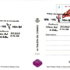Francobolli: ESPAÑA-ENTERO POSTAL Nº36/37 CENTENARIO ATHLETIC CLUB BILBAO MATASELLADA (VER FOTOS). Lote 209808982