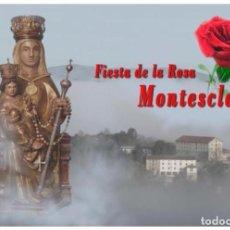 Francobolli: FIESTA DE LA ROSA. MONTESCLAROS. TARJETA PREFRANQUEADA ESPAÑA. TARIFA A. ENTERO POSTAL. Lote 211720615