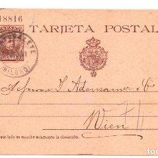 Sellos: 1901 ENTERO POSTAL Nº 37 DE PORTUGALETE A VIENA. Lote 213154197