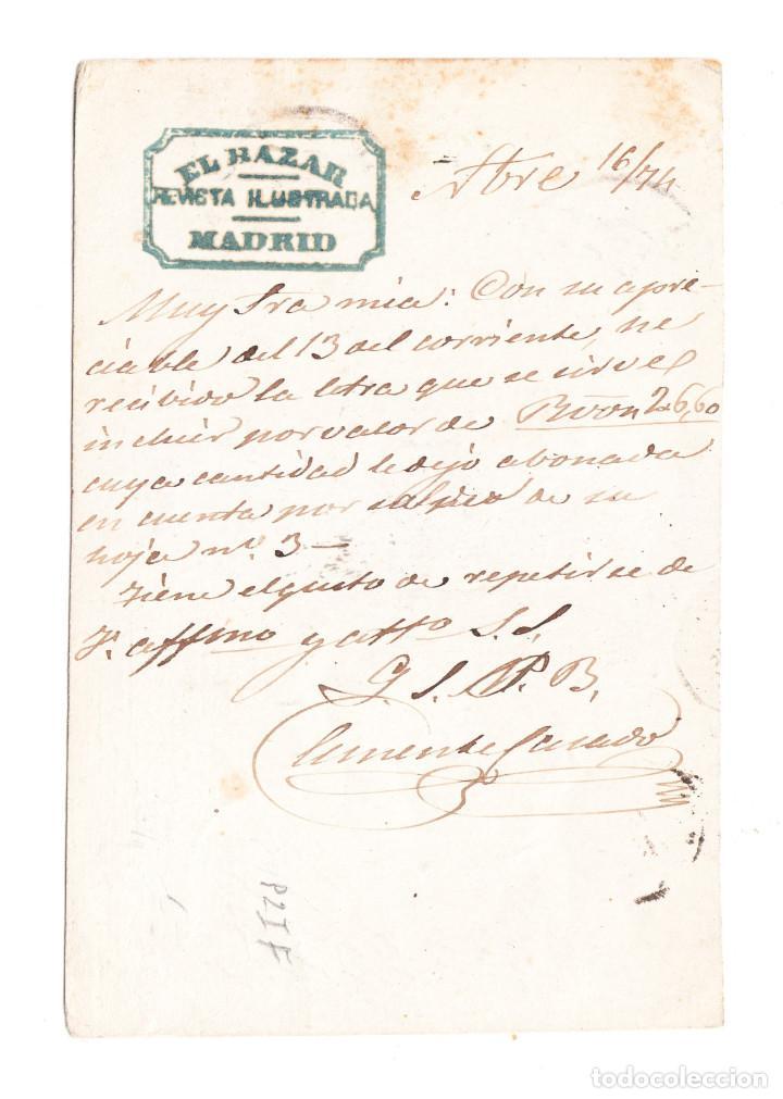 Sellos: ENTERO POSTAL PRIMERA REPÚBLICA EDIFIL 6 VUELTA - Foto 2 - 215672712