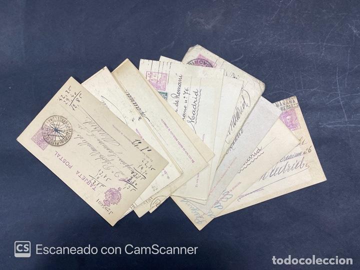 LOTE DE 14 ENTERO POSTALES DE LA REPUBLICA Y ALFONSO CON DOBLE FRANQUEO. VER FOTOS (Sellos - España - Entero Postales)