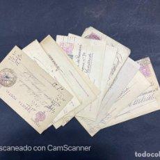 Sellos: LOTE DE 14 ENTERO POSTALES DE LA REPUBLICA Y ALFONSO CON DOBLE FRANQUEO. VER FOTOS. Lote 216434361