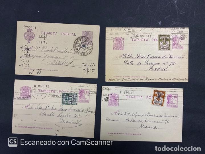Sellos: LOTE DE 14 ENTERO POSTALES DE LA REPUBLICA Y ALFONSO CON DOBLE FRANQUEO. VER FOTOS - Foto 2 - 216434361