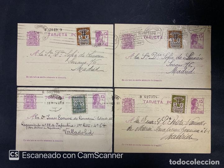 Sellos: LOTE DE 14 ENTERO POSTALES DE LA REPUBLICA Y ALFONSO CON DOBLE FRANQUEO. VER FOTOS - Foto 4 - 216434361