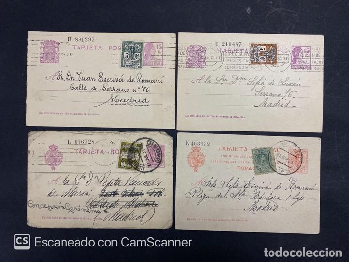 Sellos: LOTE DE 14 ENTERO POSTALES DE LA REPUBLICA Y ALFONSO CON DOBLE FRANQUEO. VER FOTOS - Foto 6 - 216434361