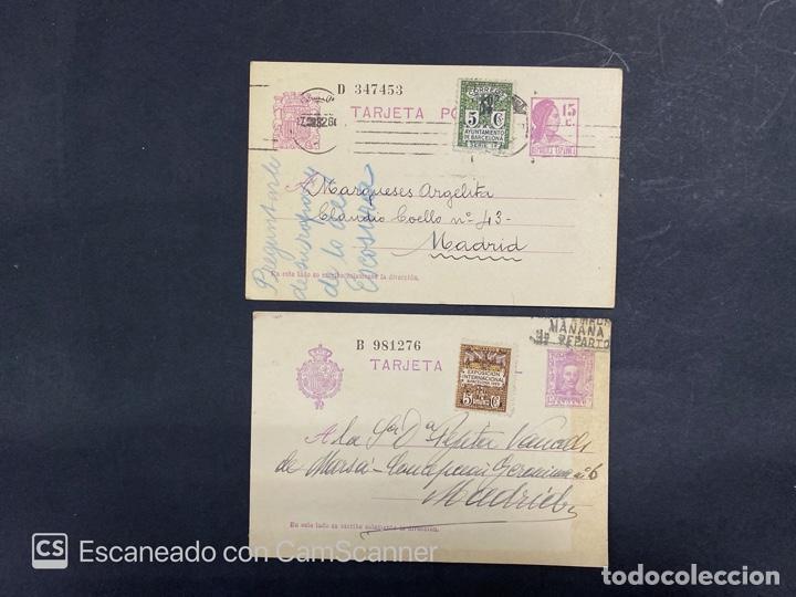 Sellos: LOTE DE 14 ENTERO POSTALES DE LA REPUBLICA Y ALFONSO CON DOBLE FRANQUEO. VER FOTOS - Foto 8 - 216434361