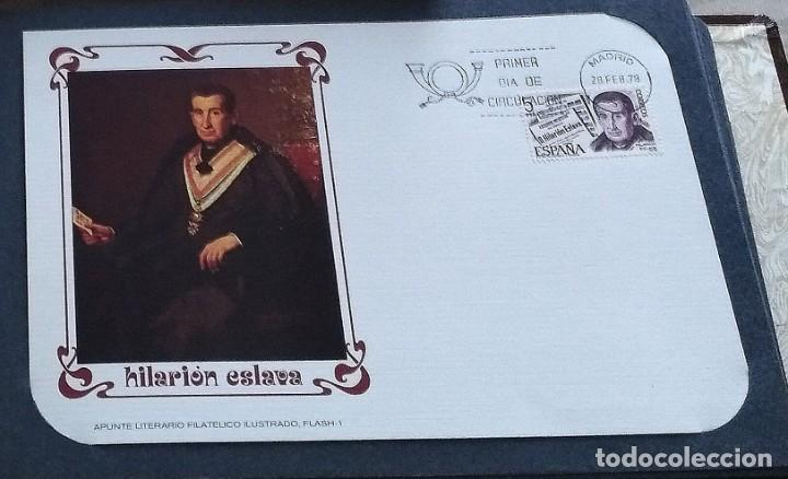 Sellos: Coleccion 424 tarjetas 1er dia. 11 Tomos apunte Lit. Filat. Ilustrado 28.02.1978 a 29.12. 1987 - Foto 2 - 217860816