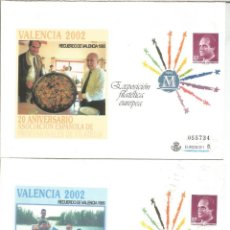 Timbres: ENTEROS PÒSTALES EXPOSICION FILATELICA EUROPEA SOBRECARGA VALENCIA 2002 PAELLA ALBUFERA. Lote 219201255