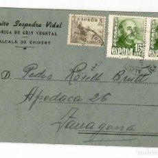 Sellos: FABRICA DE CRIN VEGETAL .- BENITO SOSPEDRA VIDAL.- ALCALA DE CHIVERT 1948. Lote 219340576