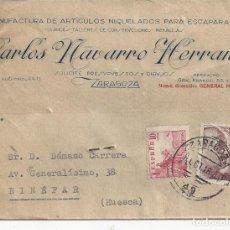Timbres: TARJETA POSTAL.CARLOS NAVARRO HERRANZ. ZARAGOZA. 1948. Lote 219483277