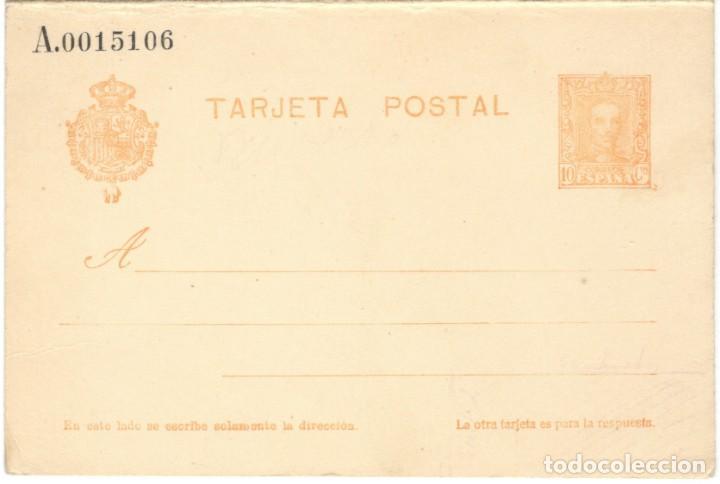 ENTERO POSTAL - ALFONSO XIII - 15 CÉNTIMOS - DOBLE CON TARJETA DE RESPUESTA (Sellos - España - Entero Postales)