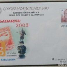 Timbres: SOBRE ENTERO POSTAL - EDIFIL Nº 88 - FERIA DEL SELLO Y LA MONEDA - FILABARNA 2003. Lote 210026833