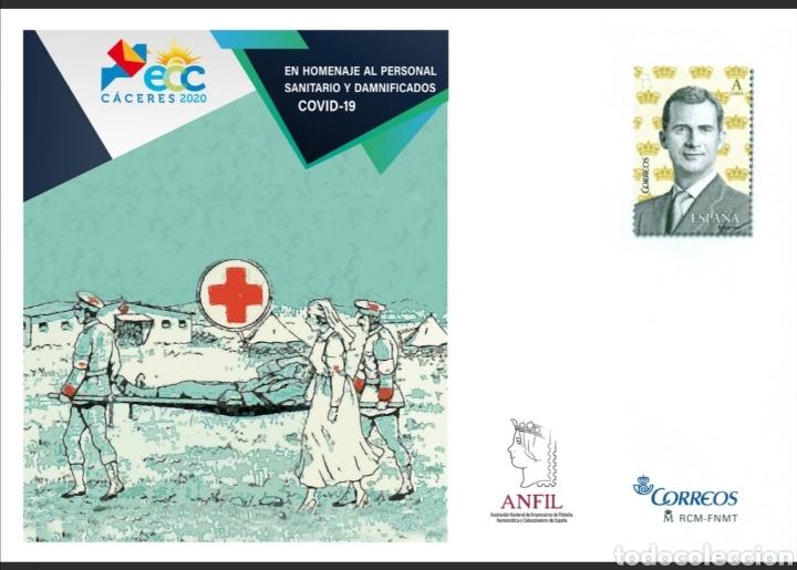 ESPAÑA 2020 ECC CÁCERES PERSONAL SANITARIO COVID-19 CORONAVIRUS EDIFIL 153 SOBRE ENTERO POSTAL SEP (Sellos - España - Entero Postales)