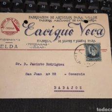 Sellos: JOSÉ VERA .ELDA ALICANTE. 1933. Lote 226947520