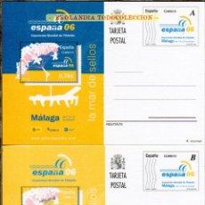 Francobolli: F10S 173 174 MALAGA Y ESPAÑA 06 EKL ~ TARJETAS ENTEROS POSTALES 2006. Lote 231420640