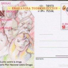 Sellos: F10S 175 PLAN NACIONAL DE DROGAS EKL ~ TARJETAS ENTEROS POSTALES 2006 SPD PRIMER DIA. Lote 245437470