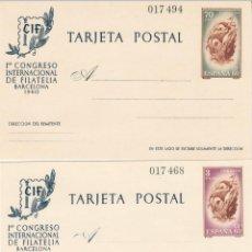 Timbres: ENTEROS POSTALES CIF- CONGRESO INTERNACIONAL DE FILATELIA BARCELONA 1960 NUMS. 88 - 89. Lote 231636985