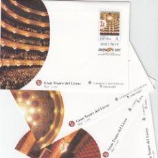 Sellos: 1999 4 SOBRES ENTERO POSTALES - BARNAFIL 2001 - GRAN TEATRE DEL LICEU. Lote 283159668
