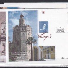 Timbres: ESPAÑA.- JUEGO DE CINCO SOBRES ENTEROS POSTALES DE VELAZQUEZ. Lote 232611810