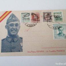 Sellos: ER * TARJETA FRANCISCO FRANCO * MATASELLOS SEVILLA 1937. Lote 235838220