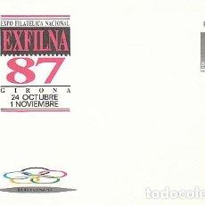 Sellos: SOBRE ENTERO POSTAL EDIFIL Nº 10, EXFILNA'87, OLIMPIADAS, SIN USAR. Lote 236598850