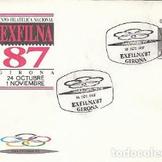 Sellos: SOBRE ENTERO POSTAL EDIFIL Nº 10, EXFILNA'87, OLIMPIADAS REMO, MATASELLO DE BANYOLES 92. Lote 236599475