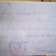 Selos: SOBRE CIRCULADO CENSURA MILITAR VALENCIA. Lote 237023470