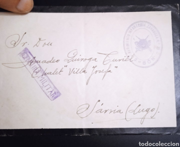 SOBRE CIRCULADO SARRIA LUGO CENSURA MILITAR (Sellos - España - Entero Postales)