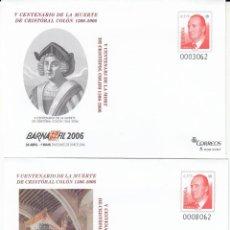 Selos: SOBRES ENTERO POSTALES NUMS. 107 Y 108 BARNAFIL 2006. Lote 239679255