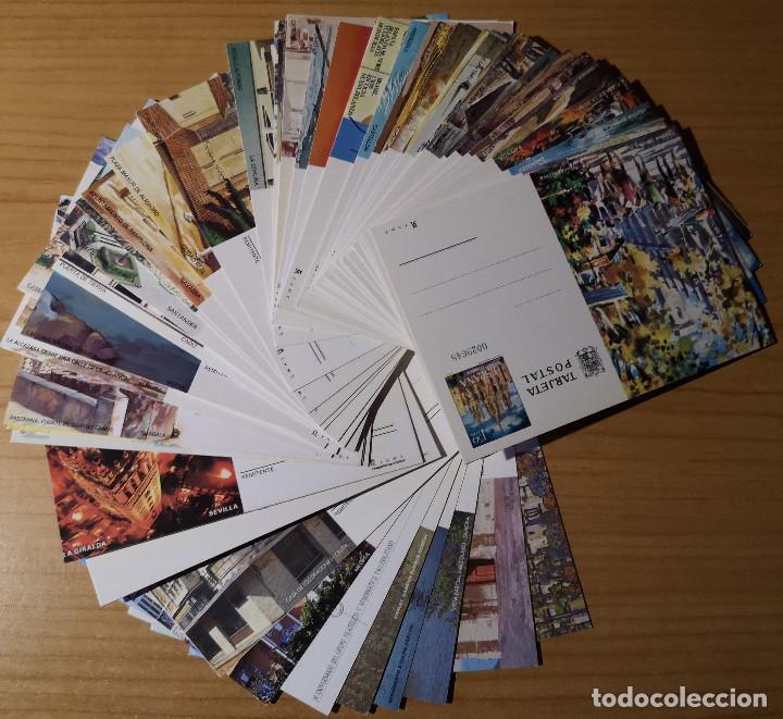 Sellos: ESPAÑA 66 ENTEROS POSTALES DE AÑO 1973 A 1997 (300 gms.) - Foto 2 - 258210600