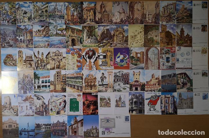 ESPAÑA 67 ENTEROS POSTALES DE AÑO 1973 A 1998 (300 GMS.) (Sellos - España - Entero Postales)