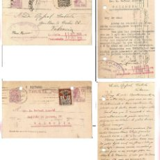 Timbres: DOS TARJETA POSTALES. ENTEROS POSTALES REPÚBLICA. MATRONA.. AYUN. DE BARCELONA 1935. Lote 241689135