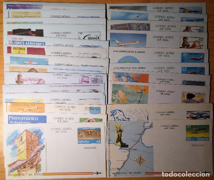 ESPAÑA LOTE 24 AEROGRAMAS (81 GMS.) (Sellos - España - Entero Postales)