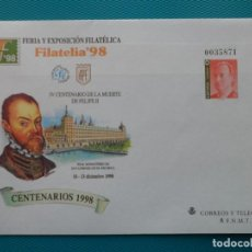 Sellos: 19978-SOBRES ENTERO POSTAL-Nº50 Y 51-EXFILNA 98-MADRID-CENTENARIOS 1998. Lote 244540890