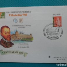 Sellos: 19978-SOBRES ENTERO POSTAL-Nº50 Y 51-EXFILNA 98-MADRID-CENTENARIOS 1998. Lote 244541145