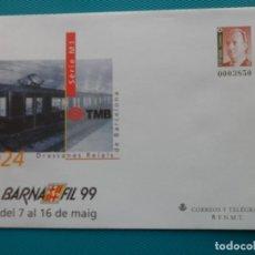 Sellos: 1999-SOBRES ENTERO POSTAL-Nº53-BARNAFIL-99-BARCELONA-SERIE COMPLETA(5 SOBRES). Lote 244542970