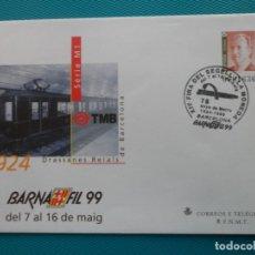 Sellos: 1999-SOBRES ENTERO POSTAL-Nº53-BARNAFIL-99-BARCELONA-SERIE COMPLETA(5 SOBRES). Lote 244543270