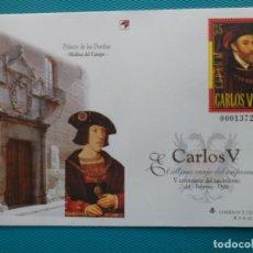 Sellos: 2000-SOBRES ENTERO POSTAL-Nº65 Y 66-V CENTENARIO DEL NACIMIENTO DE CARLOS V. Lote 244560305