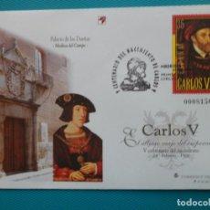 Sellos: 2000-SOBRES ENTERO POSTAL-Nº65 Y 66-V CENTENARIO DEL NACIMIENTO DE CARLOS V. Lote 244561325